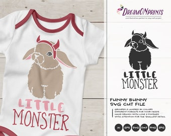 Little Monster SVG Halloween | Fun Baby Cut Design