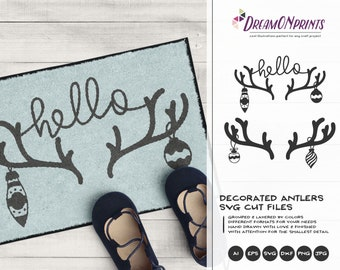 Antlers SVG Christmas | Cool Christmas Design