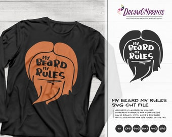 My Beard My Rules SVG | Funny Svg | Lumberjack Design | Men Beard Cut Files