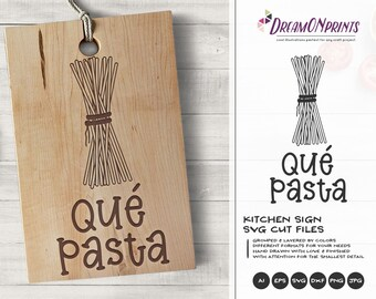 Pasta Svg, Kitchen Svg, Spaghetti Svg Food Pun Svg Kitchen Svg, Apron Svg Designs Cut File, Cooking svg Cricut Explore DOP357