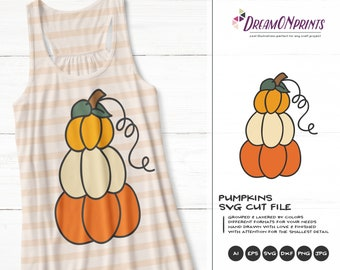 Halloween Pumpkin SVG Set | Cute Halloween Illustration