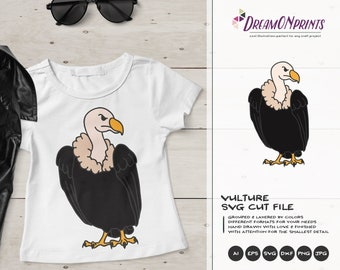 Vulture SVG Cut Files | Birds Cartoon Svg