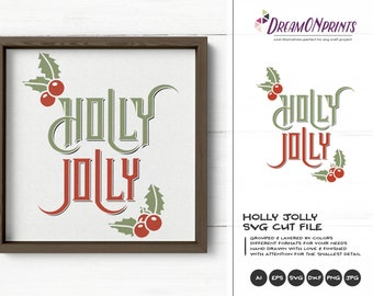 Holly Jolly SVG Christmas | Christmas Quote SVG