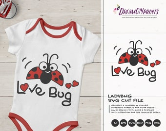 Love Bug SVG Valentine's Day | Ladybug SVG | Love SVG