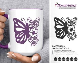 Butterfly   SVG Cut File   Mandala SVG   Zentangle