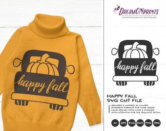 Happy Fall SVG Autumn | Farmer's Design