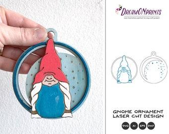 Christmas Gnome Ornament Laser Cut Files