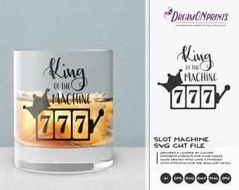 King of the Machine SVG | Casino SVG  Slot Machine SVG Cut Files