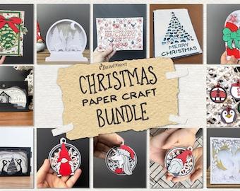 3D Christmas SVG Paper Craft Bundle | 3D Layered Bundle | Paper Cut SVG