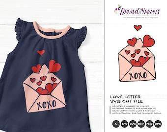 Love Letter SVG, XOXO Svg, Hugs and Kisses SVg, Heart Svg, Married Svg for Cricut, Svg for Silhouette DOP155