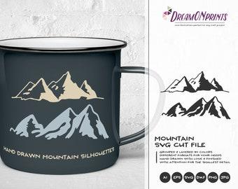 Mountain SVG Cut Files | Travel | Wanderlust SVG for Cricut | Camping | Nature svg