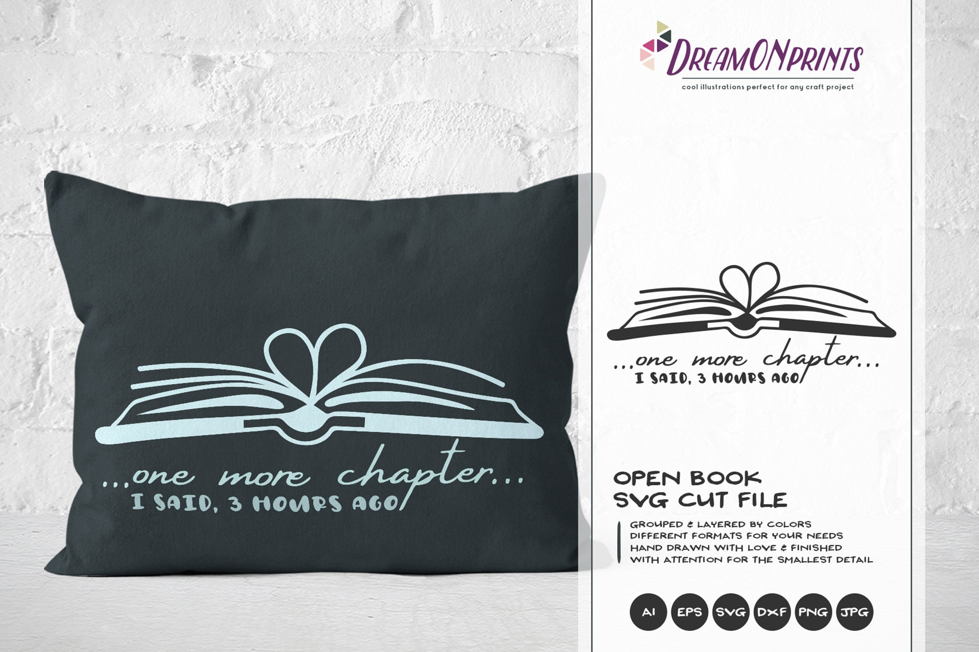 Download Books SVG | Just One More Chapter SVG | Book Lover ...