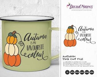 Autumn is My Favourite Colour | Autumn Quote Cut Files