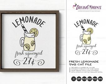 Fresh Lemonade SVG Summer   Funny SVG Cut File