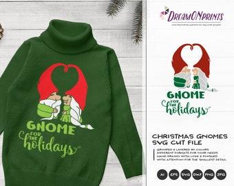 Gnome For The Holidays SVG | Christmas Gnome Cut Files | Cute Gnome Design