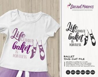 Ballet SVG Ballerina | Dance School Cut Files | Dance Cut File | Girls SVG | Pointe