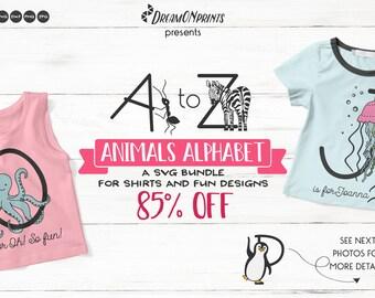 Animals Alphabet SVG | A Fun Monogram Bundle