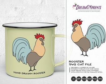 Rooster Svg Farm Animals Svg Cut File, Farm SVG, Farm House svg Sign Making Svg Files for Cutting and Printing DOP274