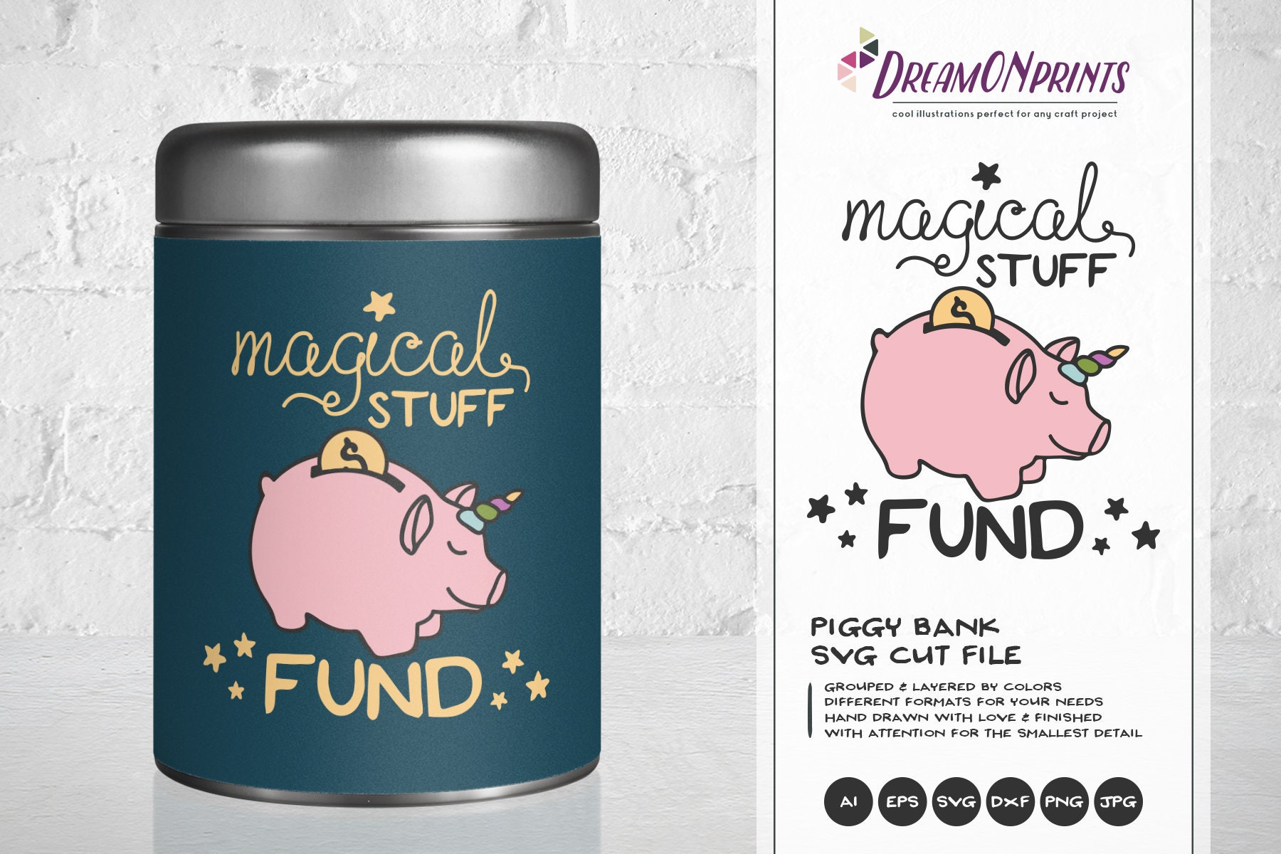 Download Piggy Bank SVG, Unicorn Svg, Unipig Svg Magical Stuff Svg ...