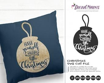 Merry Little Christmas SVG | Christmas SVG Cut Files