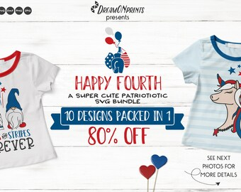 Happy 4th of July | Cute Patriotic SVG Bundle for Shirts and Fun Designs