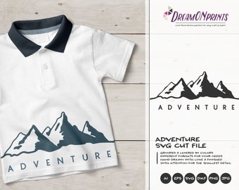 Adventure SVG | Mountain SVG Cut Files | Travel, Wanderlust SVG for Cricut, Silhouette and More DOP317
