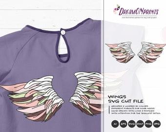 Angel wings SVG Fairy | Wings Cut Files | Angel Design