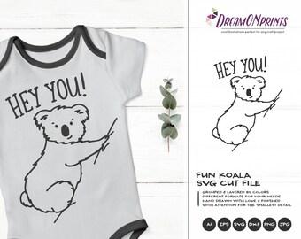 Funny Koala Svg | Lazy SVG | Animals SVG
