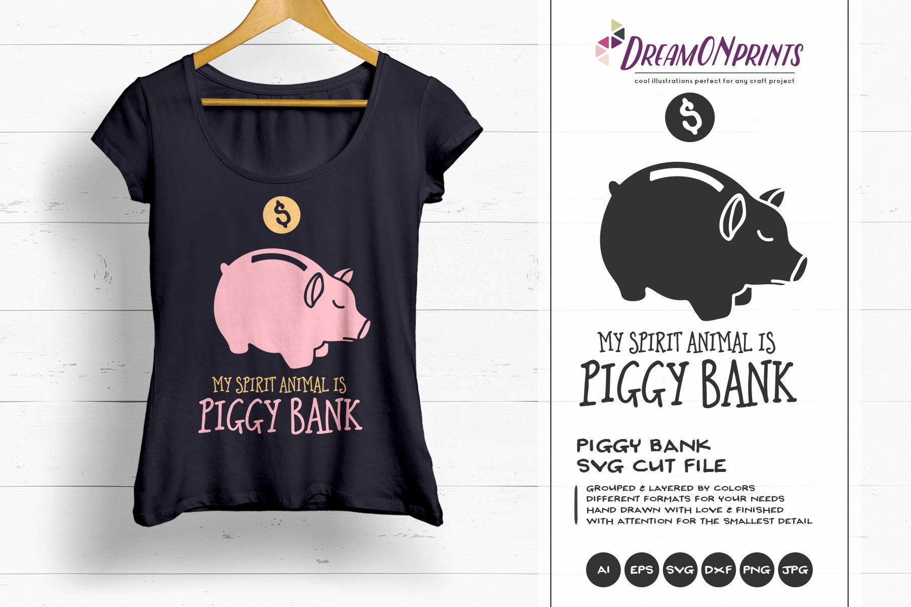 Download Piggy Bank SVG My Spirit Animal is Piggy Bank Svg, Savings ...