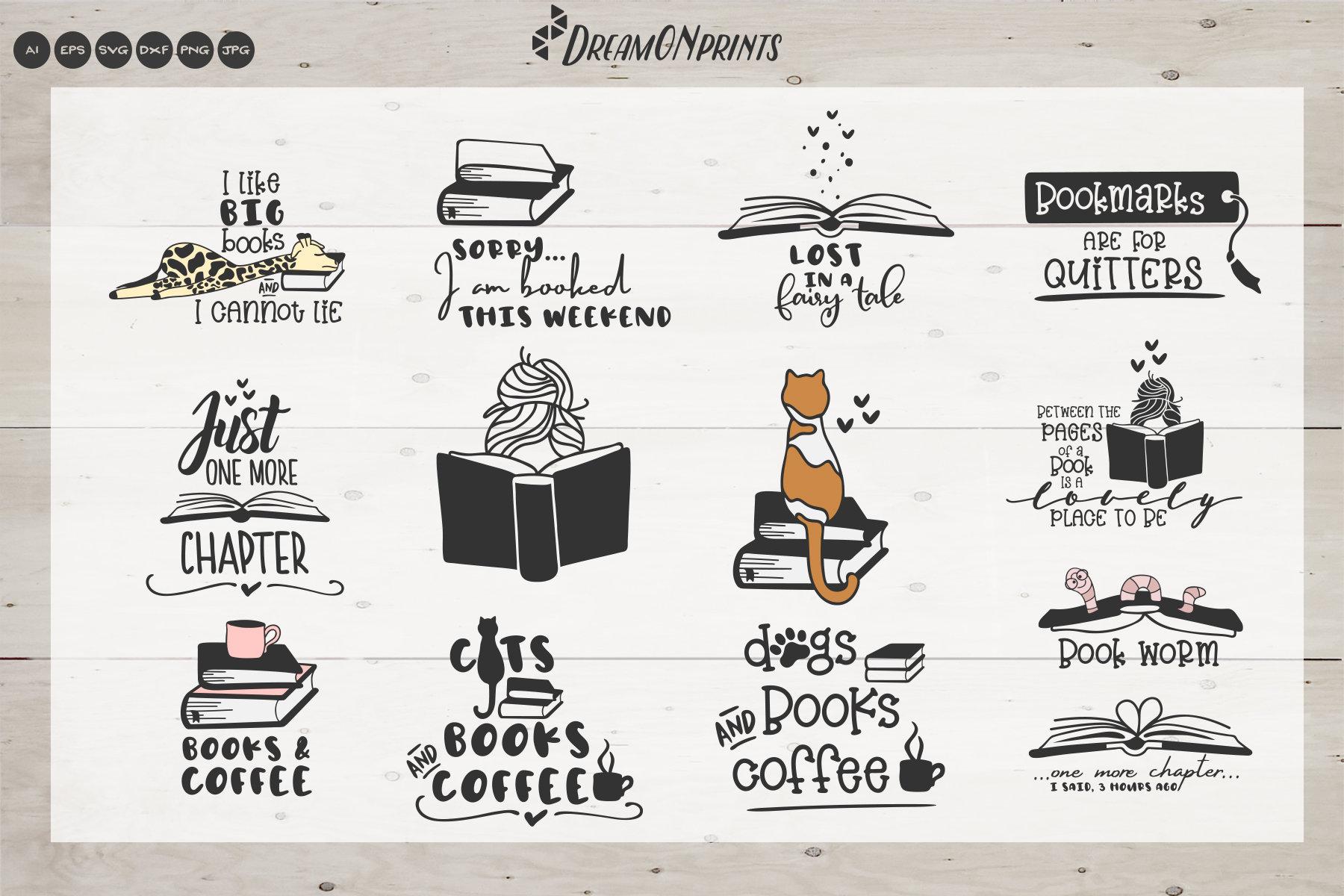 Download The Book Lover | Funny SVG Bundle