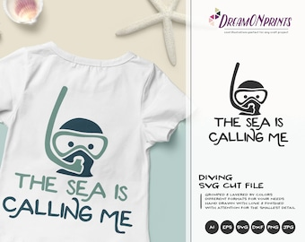 Scuba Diving SVG Ocean | Funny SVG Vector | Ocean Svg