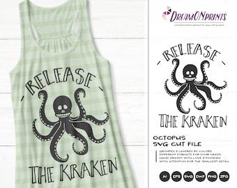 Release the Kraken SVG Halloween | Octopus shirt design