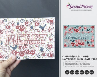DIY Christmas Card   Christmas 3D Layered Design   Christmas Multi Layer Design