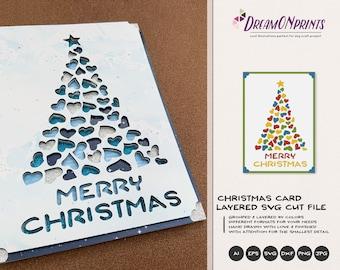 Christmas 3D Layered SVG   Christmas Multi Layer Design