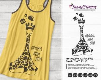 Burger or Taco?   Hungry Giraffe SVG   Yoga Giraffe