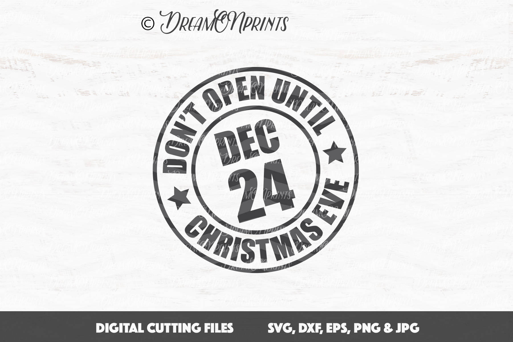 Christmas Stamp SVG Don\'t Open Until Christmas Eve SVG   Etsy