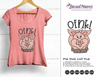 Pig Svg Farm Animals Svg Cut File, Farm SVG, Farm House svg Sign Making Svg Files for Cutting and Printing DOP258
