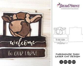 Farmhouse Laser Cut Design   Welcome to Our Farm