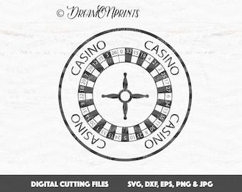Roulette Wheel SVG Vector, Gambling Svg, Casino SVG, Gamble Poker Svg Bet Betting SVG Blackjack - Cricut, Silhouette, Vinyl Cut File SVDP570