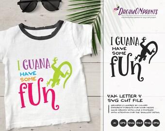 Fun Iguana SVG | Beach SVG | Summer SVG Cut Files