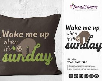 Sloth Mode SVG, Sunday Svg Sloth SVG, Animals SVG, Lazy Svg for Cricut Explore, Svg for Silhouette DOP025