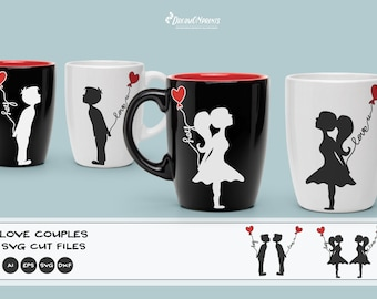 Gay Love Couple SVG, Pride SVG, Kissing Boys and Girls Svg Love Svg, Valentines Day Svg