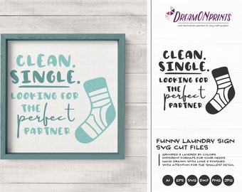 Funny Laundry Sign SVG | Couples Svg | Laundry Signs | Sign Making SVG