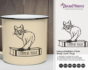 Common Magic SVG Fox | Halloween SVG Cut File | Fox Illustration