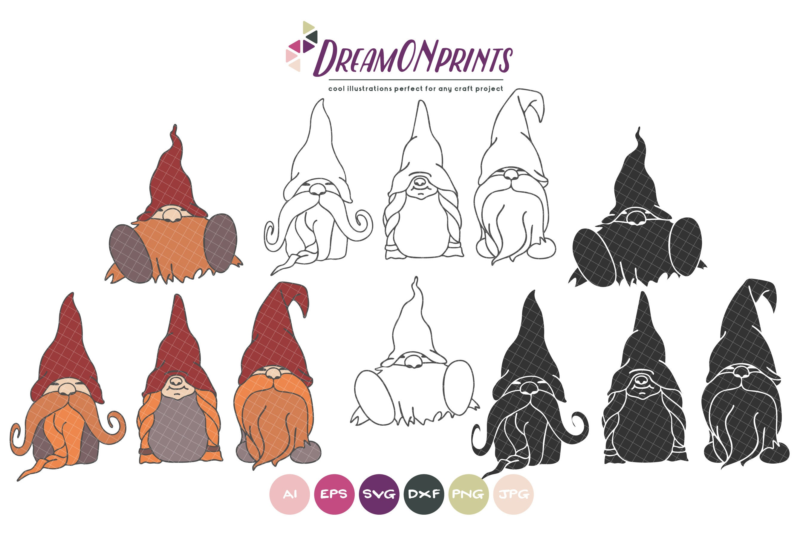 Download Gnomes SVG Bundle, Christmas Gnomes Bundle SVG Merry ...