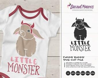 Little Monster SVG Halloween | Fun Baby Cut Design
