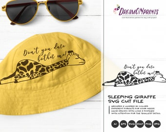 Giraffe SVG   Children SVG   Animals Svg   Funny Shirt Design   Cute Wild Svg