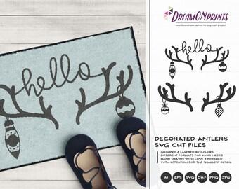 Antlers SVG Christmas | Cool Christmas Design
