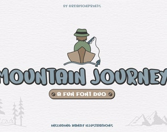 Mountain Journey - a Fun Font Duo