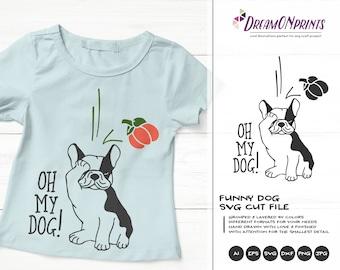 Oh My Dog Halloween SVG | Fun Dog Illustration